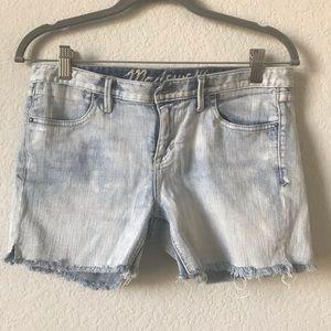 2/$20 Madewell Acid Wash fraying Jean Shorts 37s